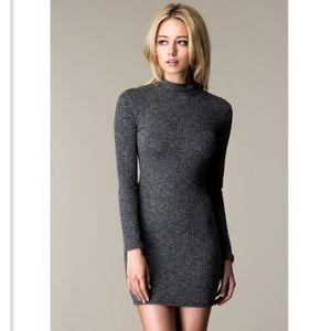 Long Sleeve Turtle Neck Mini Dress